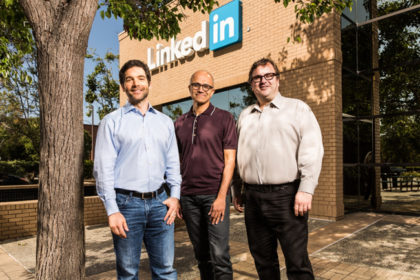 Microsoft buys LinkedIn for $26.2 billion.
